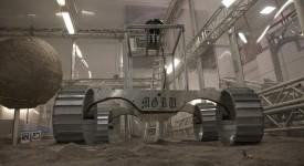 Олекотена версия на Рисорс Проспектор минава тестове в Космическия център Кенеди, Флорида. (Kennedy Space Center)