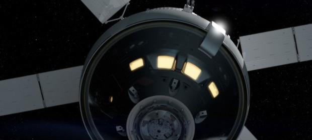 Художествена интерпретация на новия космически кораб на НАСА Орион