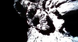 Кадър от повърхността на астероида Рюгу