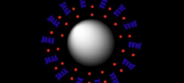 Илюстрация на наночастица, предназначена за прецизно насочване на лекарствено вещество
