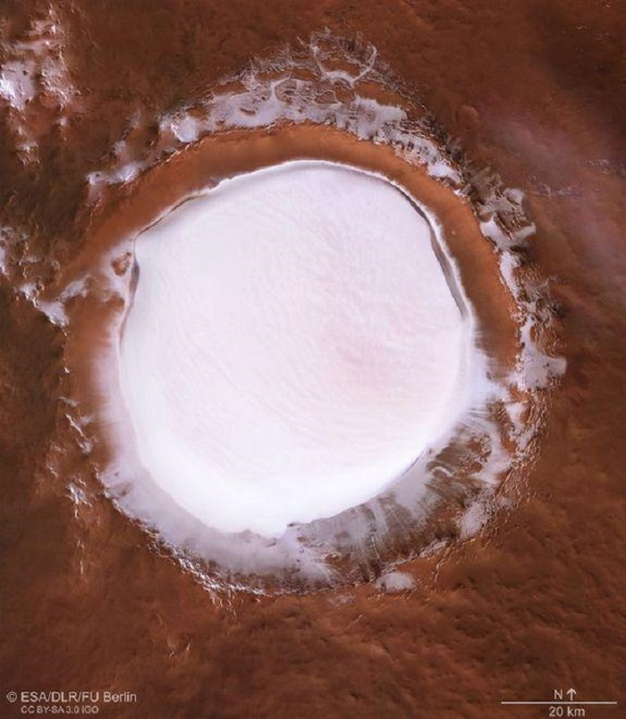Кратер Корольов, Марс